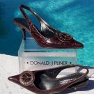 Donald Pliner $295 COUTURE GATOR LEATHER Pump Shoe NIB PEACE SIGN SIGNATURE