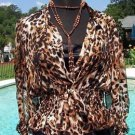 Cache LUXE $148 100% SILK Lot 2  CAMI +Top NWT XS/S/M/L ANIMAL PRINT SEXY EVENT