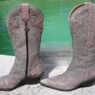 Donald Pliner $950 WESTERN COUTURE BOOT Shoe NIB STUD DETAIL SNAKE REPTILE
