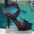 "Donald Pliner $495 COUTURE LIZARD LEATHER 1.5"" PLATFORM Shoe NIB 5""HEEL SIGNATUR"