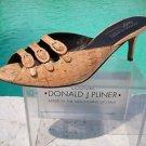 Donald Pliner $295 COUTURE GATOR Leather Shoe NIB 5 6 11 SANDAL 3 STRAP BUCKLES