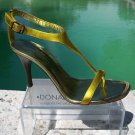 Donald Pliner $255 COUTURE CACTUS METALLIC LEATHER Shoe NIB T-STRAP 6 9.5 11