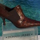 Donald Pliner $295  GATOR LEATHER Boot Shoe Pump NIB 6 ELASTIC PANELS SIGNATURE