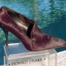 Donald Pliner $495 COUTURE PLUM HAIR CALF LEATHER Bootie Shoe Pump NIB 6.5