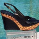 Donald Pliner $275 COUTURE KOGI GATOR LEATHER  WEDGE Shoe NIB SAND CONGO