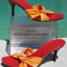 Donald Pliner COUTURE $225 MESH ELASTIC LEATHER Shoe NIB TIE DYE STRAPY