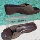 Donald Pliner $220 ELASTIC MESH SANDAL WEDGE Shoe NIB FLEXIBLE NON-SLIP SOLE