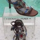 Donald Pliner $265 COUTURE METALLIC LEATHER Shoe Sandal NIB GEM STONE 8.5
