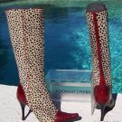 Donald Pliner $795 COUTURE PEACE TOMATO GATOR Boot Shoe NIB CHITA HAIR CALF  6