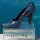 Donald Pliner $295 COUTURE OIL SKIN Leather Pump Shoe NIB 6 DETAIL STITCHING
