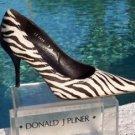 Donald Pliner $450 COUTURE HAIR CALF LEATHER Shoe Pump NIB 6.5 9  BLACK & WHITE