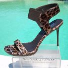 Donald Pliner $245 PATENT LEATHER ELASTIC ANKLE CUFF SANDAL Shoe NIB STILETTO