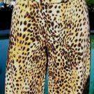 Cache Stretch $98 Crop Pant NWT XS/S 2/4/6 STRETCH ANIMAL PRINT  ANKLE ZIPPER