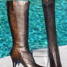 Donald Pliner $425 COUTURE BRONZE & PEWTER METALLIC LEATHER Boot Shoe NIB