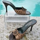 Donald Pliner $325 COUTURE SAND LEOPARD HAIR CALF LEATHER SLIDE Shoe NIB 7 9