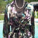 Cache $168 LUXE PEEK-A-BOO BURN-OUT Top + CAMI NWT LOT 2 S/M/L SILK RAYON