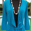 Cache $88 COVER-UP SHRUG WRAP~ + BELT Top NWT XS/S/M STRETCH~ PEEK-A-BOO