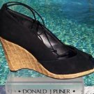 Donald Pliner $235 COUTURE SUEDE LEATHER WEDGE Shoe NIB PEEP-TOE PLATFORM 11