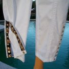 Cache $88 ANIMAL SNAP EMBELLISHED Pant NWT CROP STRETCH ZIPPERS FRONT & BACK