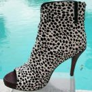 Donald Pliner $495 COUTURE HAIR CALF LEATHER Shoe NIB PEEP-TOE BOOTIE 7.5