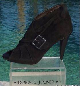Donald Pliner $445 COUTURE SUEDE LEATHER Boot Shoe Pump NIB OPEN-TOE PLATFORM