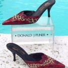 Donald Pliner $395 COUTURE CONGO HAIR CALF KOGI GATOR LEATHER MULE Shoe NIB