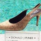 Donald Pliner $265 COUTURE NATURAL CORK LEATHER Pump Shoe NIB SLINGBACK 5.5 6 10