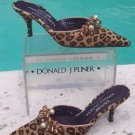 Donald Pliner $345 COUTURE JEWELS LEATHER Shoe NIB 6.5 SLIDE MULE HAIR CALF