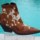 Donald Pliner $675 WESTERN COUTURE APACHEE HAIR CALF LEATHER BOOT Shoe NIB