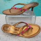 Donald Pliner $245 COUTURE METALLIC LEATHER Shoe Sandal NIB CRYSTALS FLEX 8.5