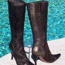 Donald Pliner $595 COUTURE PEWTER METALLIC LEATHER & HAIR CALF Boot Shoe NIB