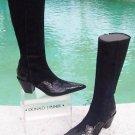 Donald Pliner $625 WESTERN COUTURE SUEDE GATOR LEATHER BOOT Shoe NIB 6.5 SIGNATU