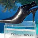 Donald Pliner $345 METALLIC LEATHER Boot Shoe NIB SATIN ELASTIC SLING Pump 6