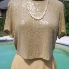 Ellen Tracy $795 Lot 2 Sequin Encrusted Top + Skirt EVENT WEDDING NWoT 2/4 XS