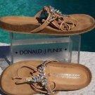 Donald Pliner COUTURE $235 RHINESTONE LEATHER Shoe NIB FLEX CORK GEL SOLE SANDAL