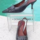 Donald Pliner $255 COUTURE OIL SKIN CALF Leather Pump Shoe NIB SLINGBACK 6 6.5