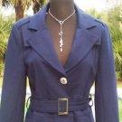 Cache $188 CONTOUR COAT Jacket Top + BELT NWT M/L  Lined Figure Flattering