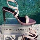 Donald Pliner $250 COUTURE CREPE LEATHER Shoe NIB DOUBLE WRAP ANKLE STRAP