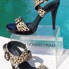 Donald Pliner $295 COUTURE HAIR CALF PATENT LEATHER SANDAL Shoe NIB SIGNATURE 9