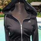 Cache $118 BOCA WEAR ZEN NYLON SPANDEX HOODIE Top NWT S YOGA  WORK OUT STRETCH