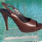 Donald Pliner $265 COUTURE SHINE NAPPA GATOR LEATHER Shoe NIB PLATFORM PEEP-TOE