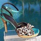 Donald Pliner COUTURE $295 KOGI LEATHER CORK  Shoe NIB 10 SIGNATURE ANKLE STRAP