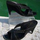 Donald Pliner $375 COUTURE LEATHER WEDGE Shoe NIB CORK HEEL SANDAL SLIDE 10