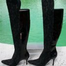 Donald Pliner $695 COUTURE LACE- PATENT LEATHER Boot Shoe NIB OVER THE KNEE