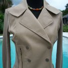 Cache $168 Jacket Top NWT S/M/L PERFORATED pLEATHER RIB KNIT STRETCH
