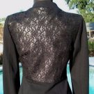 Cache $188 Lined HIDDEN Zipper ELABORATE LACE BACK Top JACKET NWT XS/S/M/L