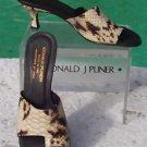 Donald Pliner COUTURE $315 PYTHON PATENT LEATHER Shoe NIB TOE RING SANDAL 5.5