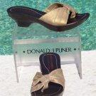 Donald Pliner $225 COUTURE BRONZE METALIC LEATHER Shoe NIB PLATFORM BASE NONSKID
