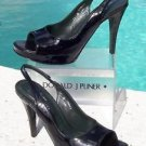 Donald Pliner $275 COUTURE GATOR PATENT LEATHER Shoe NIB OPEN TOE PLATFORM