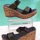 Donald Pliner $285 COUTURE KOGI GATOR LEATHER WEDGE Shoe NIB 10.5 RUBBER SOLE